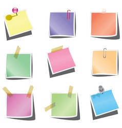 paper notes vector image
