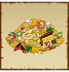 Treasures and other riches of the mountain vector image vector image