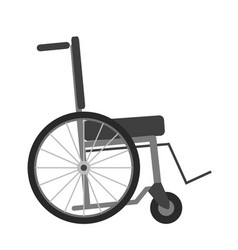 wheelchair isolated on white background vector image vector image