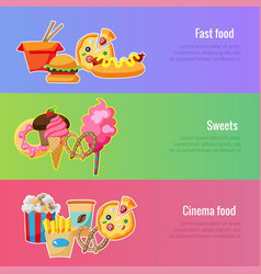 banner template fast food for food festival vector image vector image