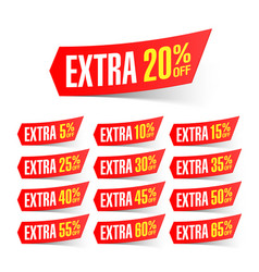 extra sale discount labels vector image