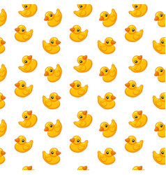 Seamless pattern rubber duck toy vector