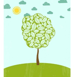 Abstract summer background with tree vector image vector image