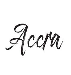 Accra text design calligraphy typography vector
