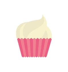 Cup cake celebration love vector