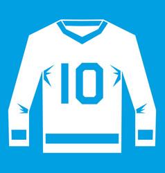 Hockey jersey icon white vector
