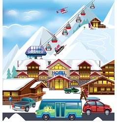 Ski resort vector image vector image