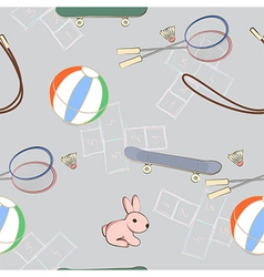 Sporting equipment with a little pink rabbit vector image vector image