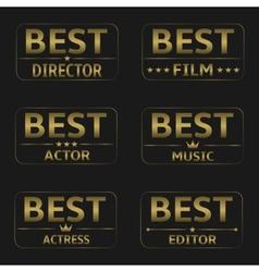 Best Film Awards vector image