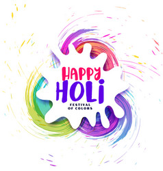 Abstract happy holi festival background with vector