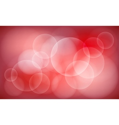 Abstract red blur bokeh background vector image