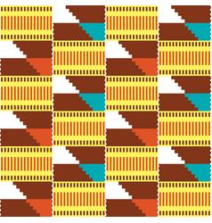 African kente tribal seamless pattern vector
