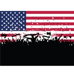 American Party Crowd vector image