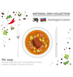 azerbaijani cuisine caucasian national dish vector image