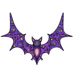 Bat - linear color halloween vector