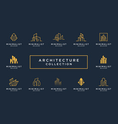 Best collection building architecture sets vector