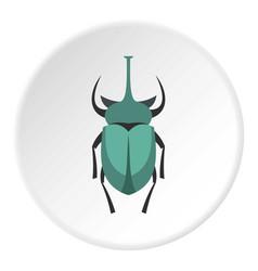 Big beetle icon circle vector
