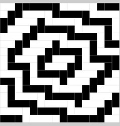 black and white weave pattern background vector image