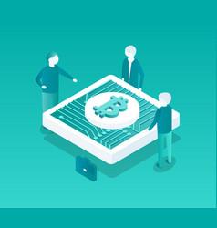blockchain conference icon vector image