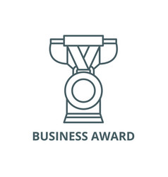 business award line icon business award vector image