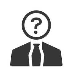 Business confusion icon vector