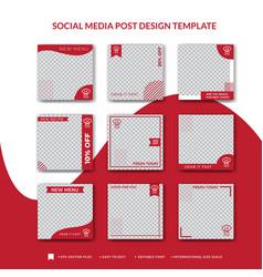 Cakes social media post design template vector
