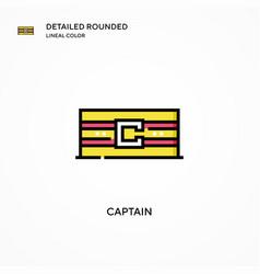 Captain icon modern vector