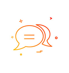 chat dialog discussion forum messenger sms vector image