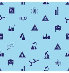 chemistry icons blue pattern eps10 vector image