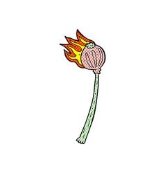 comic cartoon dried poppy vector image