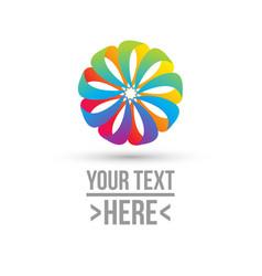 concept of circle logo vector image