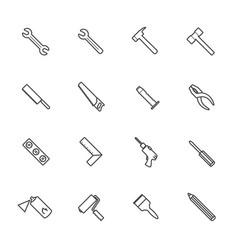 Construction equipment icons set vector