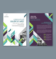 Cover annual report 879 vector