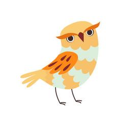 Cute owlet adorable wild owl bird vector