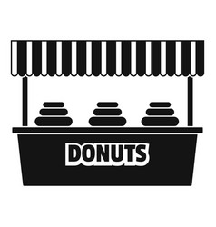 Donuts selling icon simple style vector