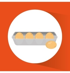 Eggs and breakfast design vector