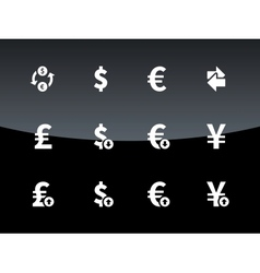 Exchange Rate icons on black background vector image