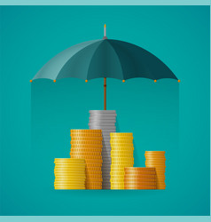 Financial insurance concept in flat style vector
