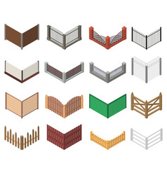 gates and fences sign 3d icon set isometric view vector image
