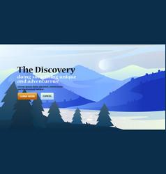 gradient landscape national park mountain vector image