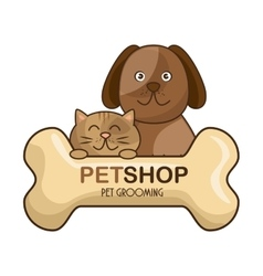 group animals pet shop vector image