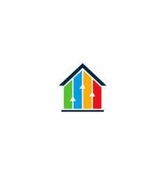 Home statistic logo icon design vector