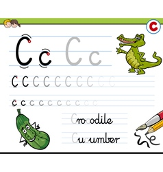 How to write letter c vector