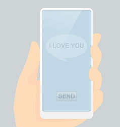 I love you message ready for send vector image