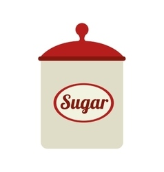 icon sugar bowl isolated vector image