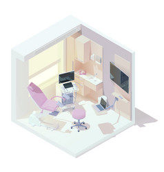 isometric gynecologist office interior vector image