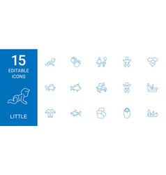 little icons vector image