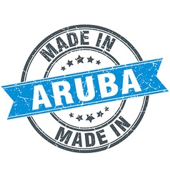Made in Aruba blue round vintage stamp vector