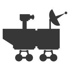 Mars rover curiosity icon vector