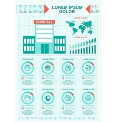 Medical concept hospital infographics vector